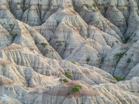 The wrinkles and folds of certain section of the Badlands make for fascinating abstract compositions