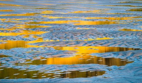 Low Tide Beach ReflectsCliffs