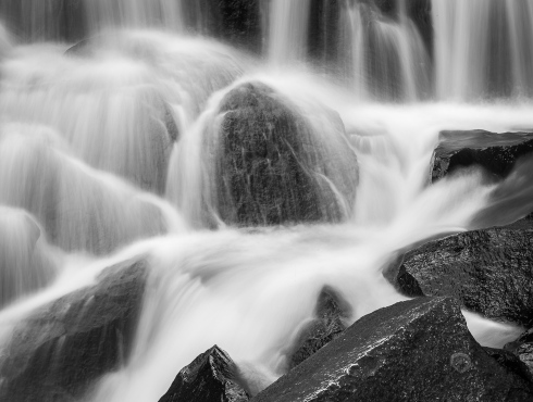 Lee Vining Creek cascades over rocks in California's magnificent Eastern Sierra