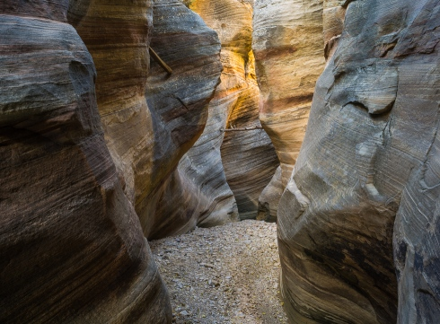 It was not difficult to get lost in my work as I photographed layers of sandstone walls in a small slot canyon in southwest Utah
